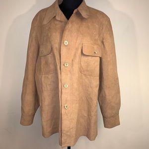 Halston Suede Oversized Jacket